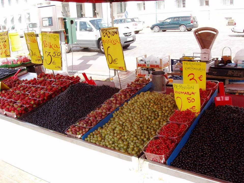 Mercado de pequeños frutos